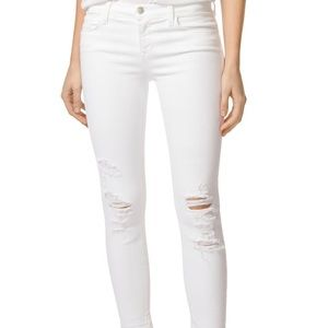 white ripped j brand jeans